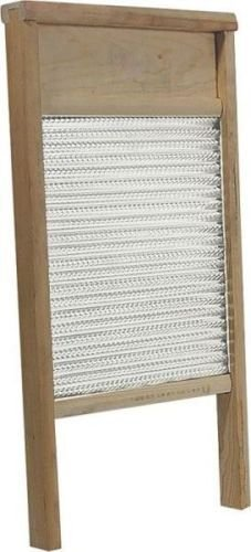 New Behrens Bwbg12 Large Galvanized Double Face Metal & Wood Washboard 12 X - Queens Outlet Town