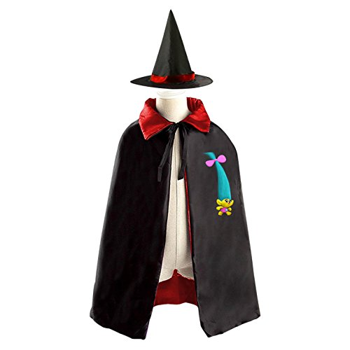 Vampire Costumes Pinterest (DIY Trolls Pinterest Costumes Party Dress Up Cape Reversible with Wizard Witch Hat)