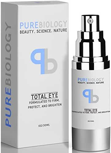 """Pure Biology """"Total Eye"""" Anti Aging Eye Cream Infused with Instant Lift Technology & Baobab Fruit Extract - Instant Firming & Long Term Reduction in Wrinkles, Bags & Dark Circles"""
