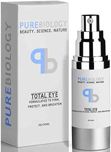 """Pure Biology """"Total Eye"""" Anti Aging Eye Cream Infused w/Breakthrough Complex for Immediate Results & Long Term Benefits in Appearance of Fine Lines, Bags & Dark Circles (1 oz.)"""