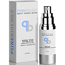 "Pure Biology ""Total Eye"" Anti Aging Eye Cream Infused w/Breakthrough Complex for Immediate Results & Long Term Benefits in Appearance of Fine Lines, Bags & Dark Circles (1 oz.)"