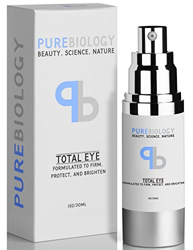 "Pure Biology ""Total Eye"" Anti Aging Eye Cream Infused with Instant Lift Technology & Baobab Fruit Extract - Instant Firming & Long Term Reduction in Wrinkles, Bags & Dark Circles (1 oz.)"