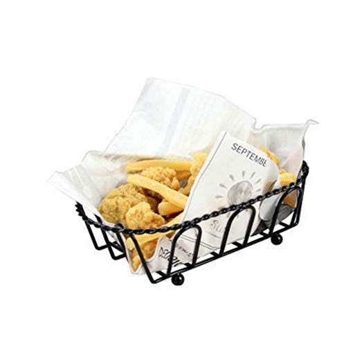 Autumn Water Stainless Steel Tableware Wrought Iron Snack Basket Western French Fries Chicken Wings Fried Chicken Basket Bread Plate Basket