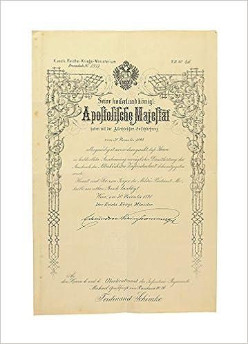 """Verleihungsurkunde """"zum Tragen der Militär-Verdienst-Medaille am ..."""