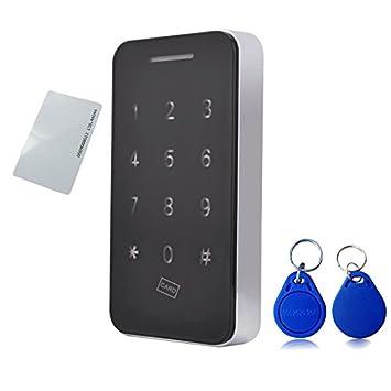 Pantalla táctil Teclado Electrónico Armario cerradura con llaves RFID & 5 V DC puerto de alimentación
