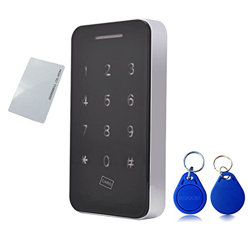 Touch Keypad Cabinet Lock with RFID Keys & 5V DC Power Port Backup for Jewelry Box Baby Proof Closet Medicine Cabinet Cupboard
