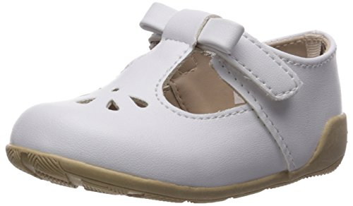 Baby Deer Girls' 0006081 Mary Jane Flat, White, 4 Child US Toddler -