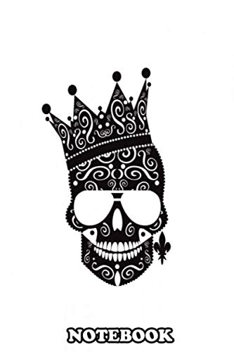 """Notebook: King Skull Icon With Sunglasses Illustration , Journal for Writing, College Ruled Size 6"""" x 9"""", 110 Pages"""