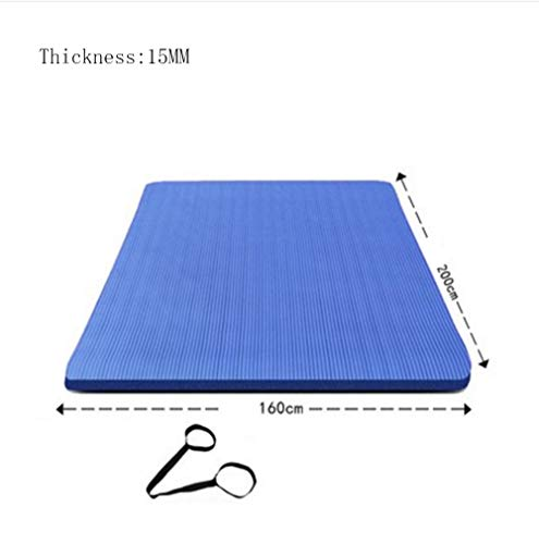 Mdck Dance Mats, 200cm Double Pad Yoga Mats Thickened 15mm Wide 160cm Anti-Slip Mats
