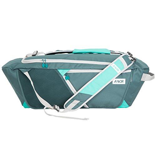AEVOR Duffle Bag Sporttasche tragbar als Rucksack für Sport und Freizeit erweiterbar auf 53 Liter Aurora Green - grün, mint Aurora Green - grün, mint