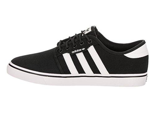 adidas Originals Männer Seeley Schnürschuh Schwarz / Schwarz / Schuhe Weiß Canvas