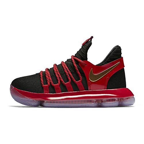 brand new c8af2 d3fab Nike Zoom KD 10 LE (GS) Big Kids  Basketball Shoe (6.5 M US, Black Metallic  Gold University Red)