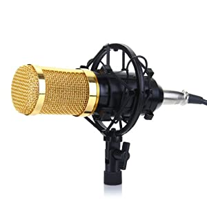 Excelvan BM-800 Condenser Microphone Sound Recording Dynamic + Mic Shock Mount