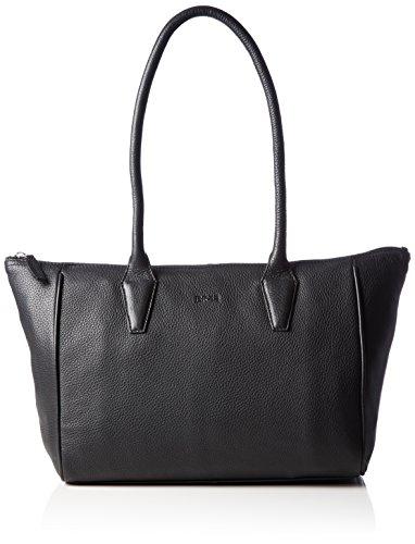 BREE 500330093 - Bolsa de Medio Lado de Cuero Mujer Schwarz (Black 901)