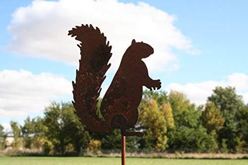 Metal Squirrel Garden Stake