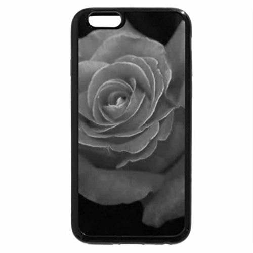 iPhone 6S Plus Case, iPhone 6 Plus Case (Black & White) - Cute Rose