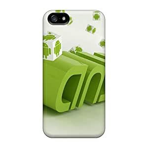 New Arrival Covers Cases With Nice Design For Iphone 5/5s- Android Logo Green White Robots