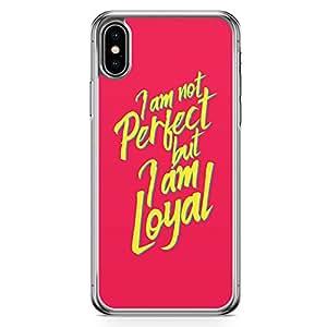 Loud Universe Phone Case Fits iPhone XS Max Transparent Edge Case Perfect Phone Case Love Phone Case Loyal iPhone XS Max Cover