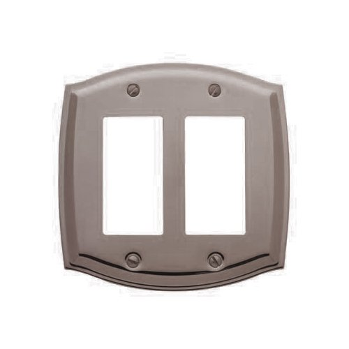Baldwin 4787.150.CD Colonial Design Double GFCI Switch Plate, Satin Nickel
