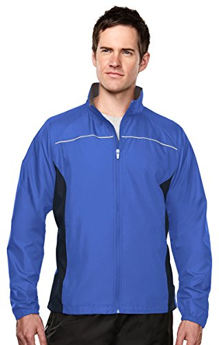 - Tri-mountain Mens 100% polyester micro dobby long sleeve jacket 1080TM - IMPERIAL BLUE/NAVY/CHARCOAL_L