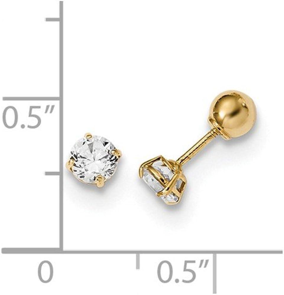 Jewelry Best Seller 14k Madi K Polished Reversible Crystal /& 3mm Ball Earrings