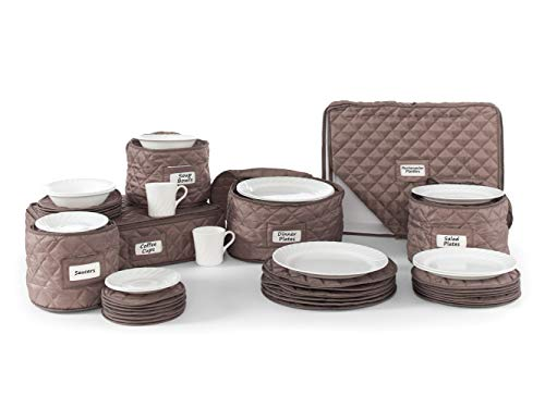 (Covermates - 6 Piece Dish and Cup Storage Set 6 PIECE SET - Diamond Collection - 2 YR Warranty - Year Around Protection -)