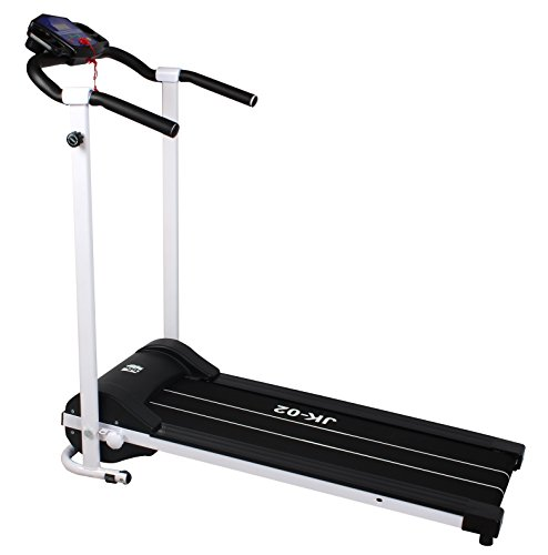 Olympic Motorized Folding Treadmill - White/Black