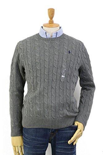 Polo Ralph Lauren Men s Pony Cable Knit Crewneck Sweater at Amazon Men s  Clothing store  1287d886c0