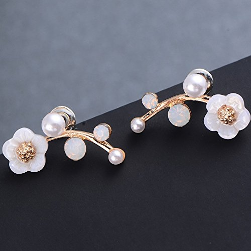 Money coming shop New Hot Sell Crystal Branch Shell Pearl Flower Stud Earrings For Women Gold Bijoux Fine Jewelry Brincos Pendientes Mujer 8906 (Gift Card My Balance)