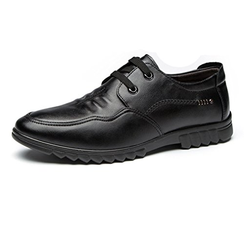 Feidaeu Derby Souliers Homme Basse Courant Loisir Outdoor Bout Rond Chaussures Coton Lacets Plat Antidérapant Noir k0gyB1