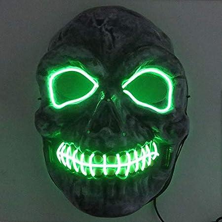 AHJSN Neon Skull Mask Party Festival Cosplay Traje Navidad Navidad ...