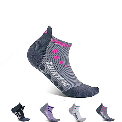 Thirty 48 Compression Low-Cut Running Socks for Men and Women (Small - Women 5-6.5 // Men 6-7.5, [1 Pair] Pink/Gray) by Thirty 48 (Image #7)