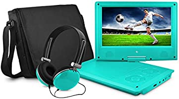 Save on Ematic 9-Inch Swivel Portable DVD Player with Headphones and Bag - Teal (EPD909TL) and more