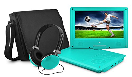 Best Deals! Ematic Portable DVD Player with 9-inch LCD Swivel Screen, Travel Bag and Headphones, Tea...