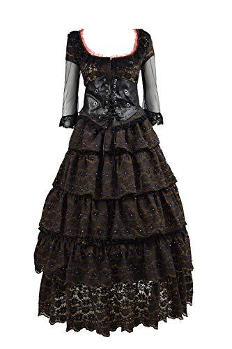 (Mrs. Lovett Costume Halloween Cosplay Party Black Classic Lolita Dress for Women Girls (Medium,)