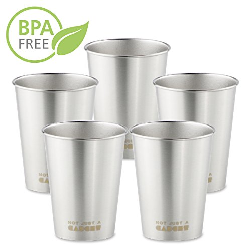 Not Just A Gadget 10 oz Stainless Steel Pint Cup Tumbler