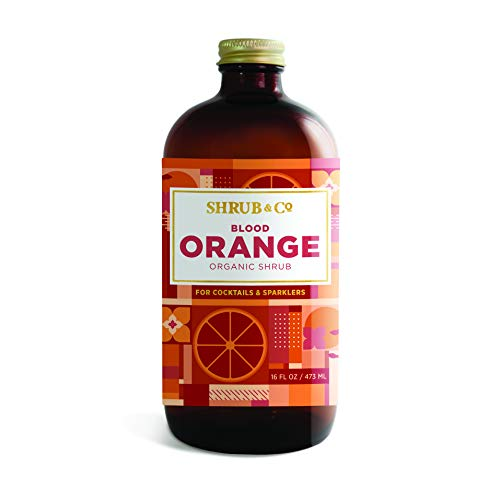 Shrub & Co Organic Blood Orange Shrub - Fruit-Driven Mixers for Cocktails, Sparklers, and Club Sodas, 16 fl. oz.