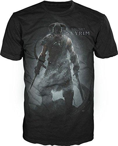 Skyrim Character Black T-Shirt (X-Large)