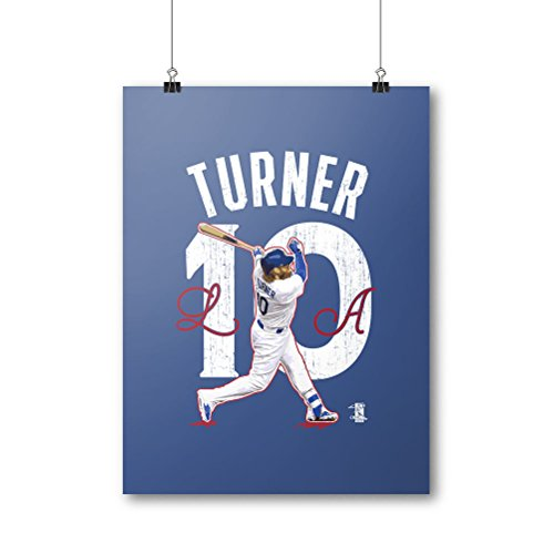 """500 LEVEL Justin Turner Poster For Young Los Angeles Baseball Fans - Blue 24"""" x 32"""" Justin Turner Arch"""