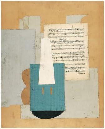 Paris - Musée Picasso - Violon et feuille de musique - Carte postale 10,5 x  15 cm sur papier de création arts graphiques: Amazon.fr: Cuisine & Maison