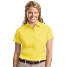 Port Authority Ladies Short Sleeve Easy Care Shirt. L508 Yellow