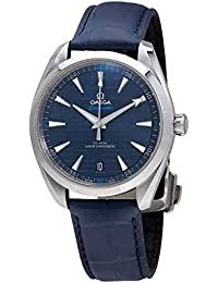 Seamaster Blue Dial Automatic Mens Leather Watch 220.13.41.21.03.001 · Omega
