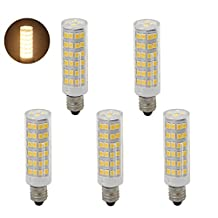 Bqhy®E11 LED Appliance Bulb 6W Dimmable 110V Intermediate Base LED Warm White Bulb 60W LED Replacement(5-Pack)