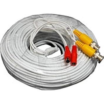 acelevel 60 pies BNC RCA Cable de vídeo y alimentación para Q-See CCTV cámaras