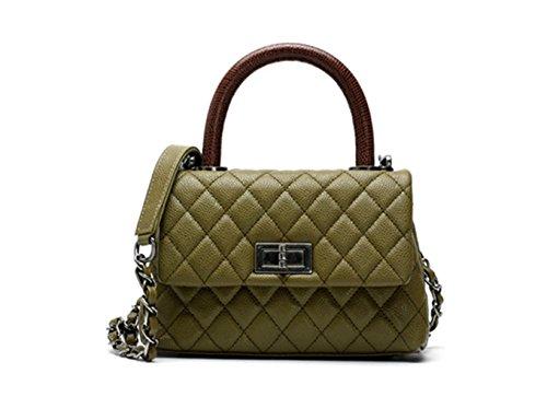 Cadena Con Pequeño Cuero Bolsos Mujer De Verde Bolso Hombro Sheli qvZ8UwS