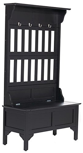 - Black Hall Tree & Storage Bench by Home Styles