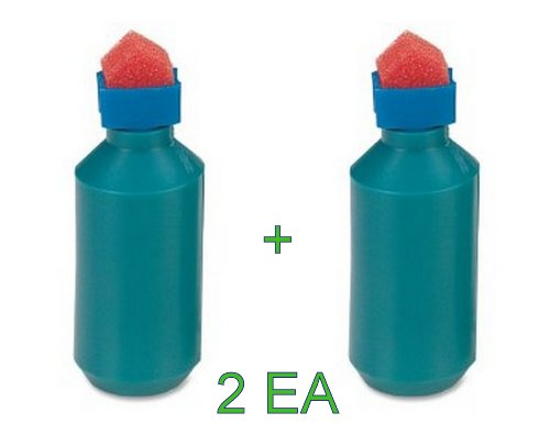 2 Each Sparco Envelope Moistener, Bottle Type, Sponge Tipped - Foam Sparco