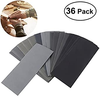 Abrasive Dry Wet Waterproof Sandpaper Sheets Assorted Grit of 400// 600// 800//