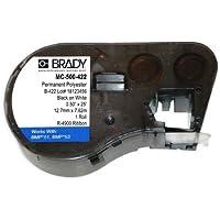 Brady MC-500-422, 143242 0.5 x 25 White BMP51/BMP53/BMP41 ToughBond Polyester Label, 5 pcs