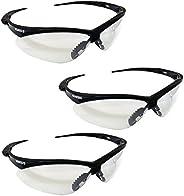 Jackson Safety V30 25679 Nemesis Safety Glasses 3000355 (3 Pair) (Black Frame with Clear Anti-Fog Lens)